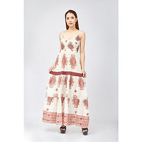 Đầm Maxi Cotton Hoa Luna Llena LN813MR90-BR