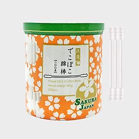 Tăm bông kháng khuẩn Sakura Nhật Bản - Xoắn (Spiral) - 200 que/hộp