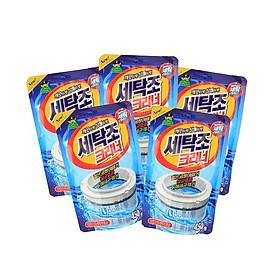 Combo 5 Gói Bột Tẩy Vệ Sinh Lồng Máy Giặt 450g Hàn Quốc Cao Cấp