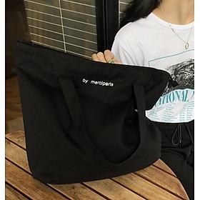 Túi vải By Merciparis có khóa kéo 33x33cm