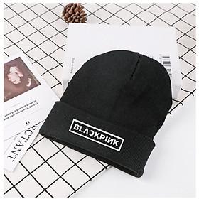 Mũ len BP Lisa Jisoo Jennie Róse nón đen