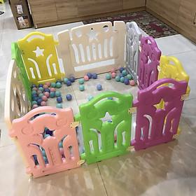 Quây cũi nhựa an toàn cho bé - tặng 100 bóng nhựa và rổ lưới đựng đồ chơi