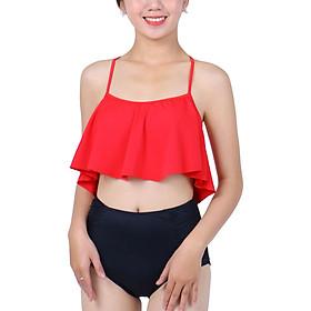 Bikini 2 Mảnh Monica Áo Bậc Thang Đỏ Quần Đen BIT 3018 - Đỏ (Free Size)