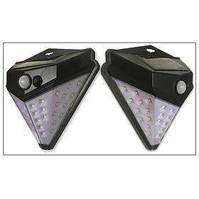 combo 2 đèn 36 led- đèn led năng lượng mặt trời- đèn led dính tường- đèn led dán tường- đèn chiếu sáng ngoài trời