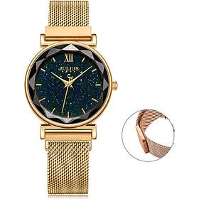 Đồng hồ nữ Julius Hàn Quốc JA-1172 dây nam châm đính mặt kim tuyến