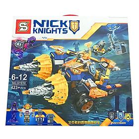 Lắp Ráp Xếp Hình Nexo Knights Mô Hình Xe Sấm Sét Của Axor 423 Khối SY910 - Đồ Chơi Trẻ Em