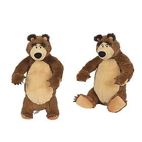 Đồ Chơi Gấu Bông Dành Cho Bé MASHA AND THE BEAR Masha Plush Bear 109301071 _ Giao 1 Con Gấu Bông Mẫu Ngẫu Nhiên - Đồ Chơi Simba Chính Hãng (25 cm)