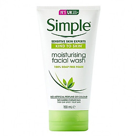 Sữa Rửa Mặt Dưỡng ẨmSimple Moisturising Facial Wash 150ml [ Được Mask 3W Clinic ]
