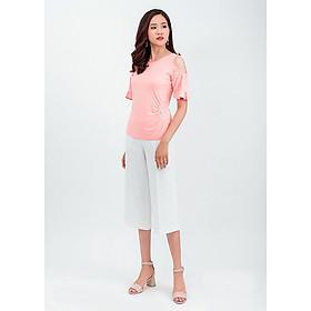 Set áo thun cut – out vai quần lửng Culottes 36202-18002