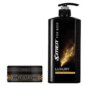 Combo Sữa tắm nước hoa X-Men4Boss Luxury 650g + Pomade tạo kiểu tóc X-Men4Boss High Hold 60g