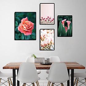 Tranh treo tường, tranh canvas TB07 bộ 4 tấm