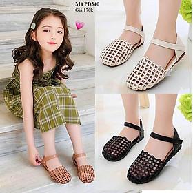 Giày búp bê bé gái dạng rọ mềm êm cho bé từ 1 - 12 tuổi PD340