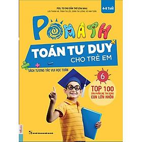 POMath - Toán Tư Duy Cho Trẻ Em 4-6 Tuổi (Tập 6) (Tặng Bookmark PL)