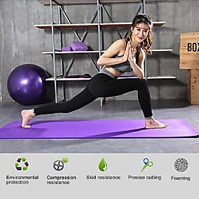 Thickened Yoga Mat Multi-functional Non-slip Yoga Mats 1830mm*610mm*10mm Grey-3