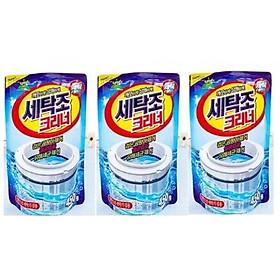 Bộ 3 gói bột tẩy lồng máy giặt Hàn Quốc 450g