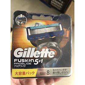 8 lưỡi dao cạo râu Gillette Fusion Proglide 5+1 Nhật bản nội địa