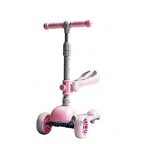 Xe trượt scooter 3 bánh cao cấp , có ghế ngồi, rèn luyện vận động tăng chiều cao cho bé, gấp gọn dễ dàng mang theo, chịu lực lên tới 100kg