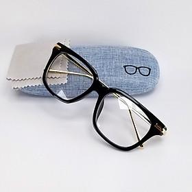 Gọng kính cận nam nữ thời trang DKYGC8042D. Tròng giả cận 0 độ, gọng kim loại không gỉ ôm sát khuôn mặt.