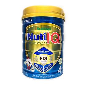 Sữa Nuti IQ Gold 4 900g (mới) - Phát triển não bộ và thị giác, Tăng cường sức đề kháng, Phát triển cân nặng - chiều cao, Tiêu hoá - hấp thu tốt, Ngăn ngừa táo bón