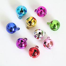 Combo 9 chuông lục lạc mini nhiều màu đeo vòng cổ cho chó mèo (màu ngẫu nhiên)