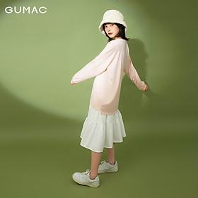 Áo thun nữ tay dài thêu GUMAC ATB130