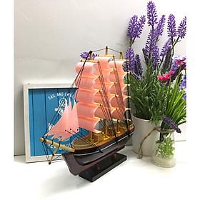 Mô Hình Thuyền Buồm Gỗ Trang Trí Nhà Cửa N25