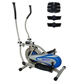 Combo Xe đạp tập thể dục tại nhà MO2082 + Máy massage xung điện EMS