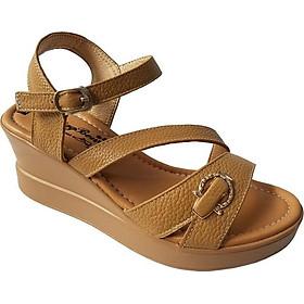 Giày Sandal Nữ Đế Xuồng BIGGBEN Da Bò Thật SDX22