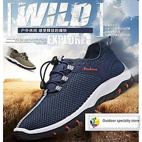 Giày chạy bộ thể thao nam chất liệu thông thoáng