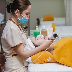 Combo Chăm Sóc Da Chuyên Sâu Với Liệu Trình Điện Di Vitamin C + Massage Đầu Cổ Vai Tại L'amie Spa
