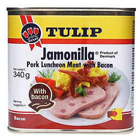 Thịt Hộp Tulip Luncheon Meat 15% Bacon 340g