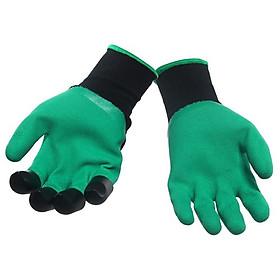 Bộ găng tay làm vườn tiện dụng (xanh)