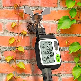 Bộ hẹn giờ tưới cây tự động  [HCT-355]: Chất lượng tốt, chống nước, cảm biến mưa, dùng tưới rau ,hoa và cây cảnh, sân vườn.