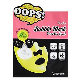 Mặt nạ chăm sóc lỗ chân lông Berrisom Soda Bubble Mask PoreTox Fruit (5c/hộp)