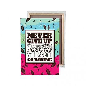 Tranh trang trí in Poster ( không khung ) Never give up