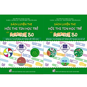 Combo sách Luyện thi hội thi tin học trẻ với Scratch 3.0