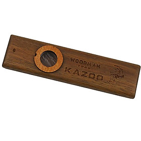 1 Set Kazoo Wooden With Diaphragm Metal Box For Music Player Kids Toy Gift