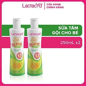 Bộ 2 Chai Sữa Tắm Gội Trẻ Em Lactacyd Milky 250ml/chai