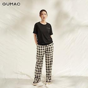 Áo thun nữ GUMAC ATA1111 thiết kế lai lật thêu