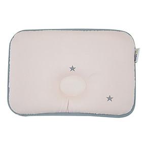 Gối Sơ Sinh Chống Móp Đầu LOL Baby Simple Star Pink (50 x 30 cm)