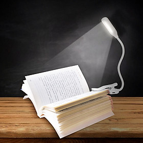 LED Clip On Reading Light Book Light 3 Brightness Levels Reading Lamp with Night Light Mode Slick Touching Control