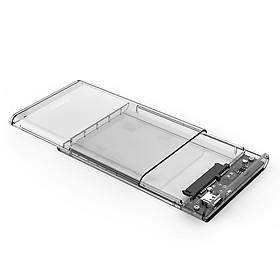 Hộp Đựng Ổ Cứng Di Động HDD Box 2.5 ORICO 2139C3-G2 USB3.1 Gen2 Type-C/2.5 Nhựa Trong Suốt - Hàng Chính Hãng