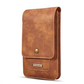 Túi 2 ngăn kèm ngăn thẻ, đeo hông thắt lưng loại đứng cho điện thoại nhiều size từ 5.2 inch đến 6.5 inch