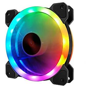 Quạt tản nhiệt, Fan case coolmoon V2.2 Led RGB 2 vòng ring - Hàng chính hãng