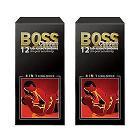 Bộ 2 Bao Cao Su Boss 12s 4 trong 1