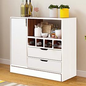 Kệ tủ để đồ nhà bếp đa năng hiện đại loại tốt mã KB02-1 thiết kế sang trọng gỗ MDF lõi xanh chống ẩm chống nước cao cấp sản xuất tại Việt Nam