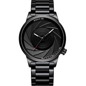 BIDEN Men Fashion Simple Sport Quartz Watch Big Dial Stainless Steel Band Wrist Watch