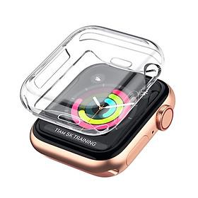 Bộ 2 Case Ốp Dẻo Silicon Dành Cho Apple Watch 38mm Series 3 2 1 (Chống Va Đập Trầy Xước, Chống Bụi, Bảo Vệ Viền Và Mặt Đồng Hồ)