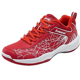 Giày cầu lông Kawasaki K081 Red cao cấp, chuyên nghiệp, chống thấm nước, chống mài mòn, sử dụng bền, thoáng khí dành cho nam và nữ, đủ size