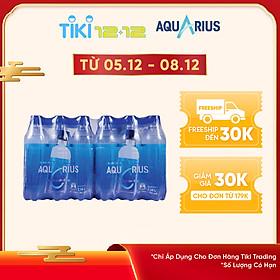 Lốc 24 Chai Nước Uống Thể Thao Aquarius (390ml / Chai)